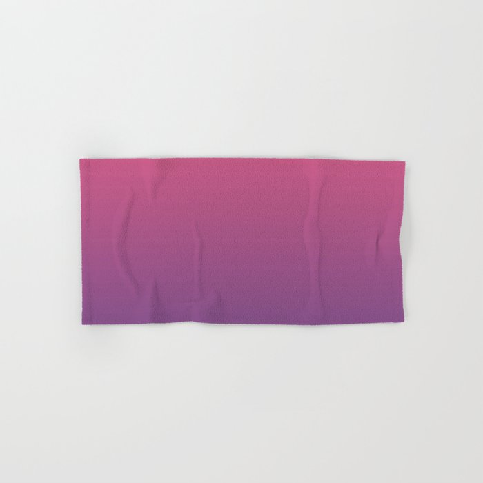 Bright Pink Ultra Violet Gradient | Pantone Color of the year 2018 Hand & Bath Towel