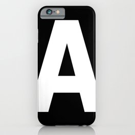 Letter A (White & Black) iPhone Case