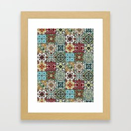 Colorful Spanish Tiles Framed Art Print