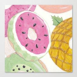 Seasonal Donuts-Summer Canvas Print