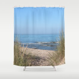 Relaxing at the beach Shower Curtain