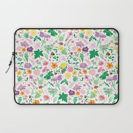 Cottage Garden Floral Print Laptop Sleeve