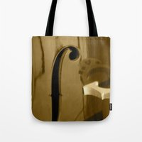 cello Tote Bags featuring Cello by CC McAlister