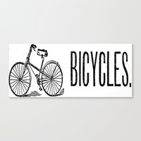bicycles Canvas Prints featuring Bicycles by redone