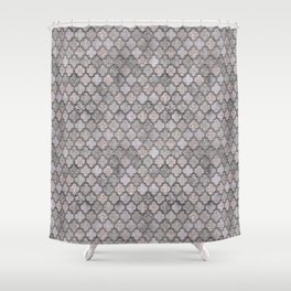 Blush And Grey Moroccan Tiles  Shower Curtain