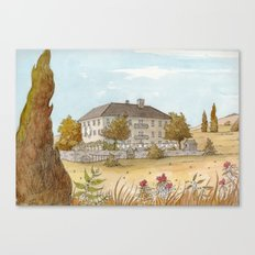 Sunday at the Chateau Canvas Print