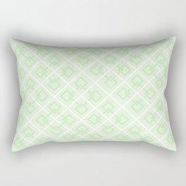 Zesty Green Interlock Cross Pattern Rectangular Pillow
