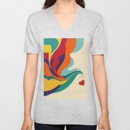 Love Message Unisex V-Neck