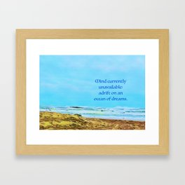 Unavailable Framed Art Print