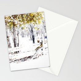Winter Fence Line | Landscape | Nadia Bonello | Canada Stationery Cards
