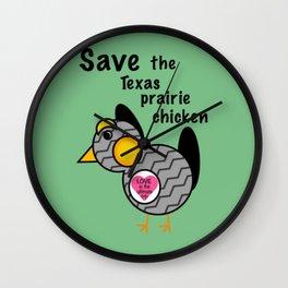 Save the Texas Prairie Chicken Wall Clock