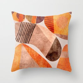 Painted Pebbles Throw Pillow