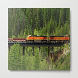 BNSF Going Over Goat Lick Creek Metal Print