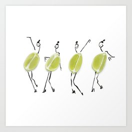 Edible Ensembles: Limes Art Print