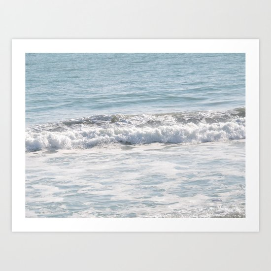 TEXTURES -- Surf   at San Clemente Art Print