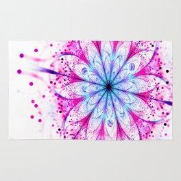 Winter Pink glittered Snowflake Rug