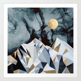 Midnight Peaks Art Print