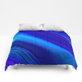 Abstract watercolor colorful lines painting Comforters