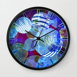 Violet Paper Lanterns Wall Clock