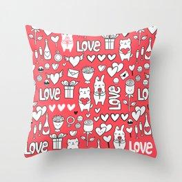 Happy Valentines Throw Pillow