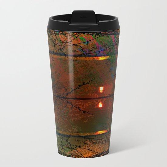 Sunset abstract-art Metal Travel Mug