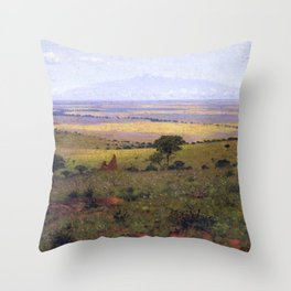 Athi Plains, Mount Kenya, Kenya, Africa Landscape by William R. Leigh Throw Pillow