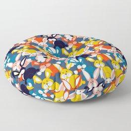 Rabbit colored pattern no2 Floor Pillow