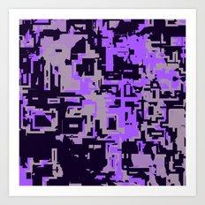 Purple Shades of perplexity Art Print