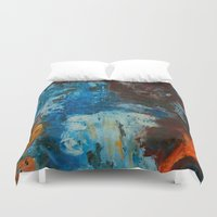 metal Duvet Covers featuring Metal by yellowbunnies