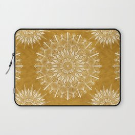 Vintage Mandala on Gold Laptop Sleeve