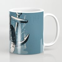 anchors Mugs featuring Anchors Aweigh by Chase Kunz