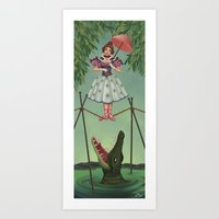 haunted mansion Art Prints featuring Disquieting Metamorphosis - Haunted Mansion by Patricia Cervantes