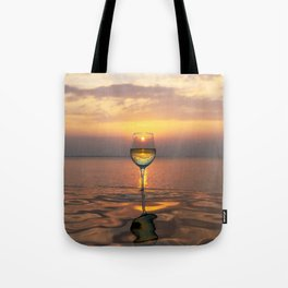 Paradise Ocean Wine Sunset Tote Bag