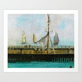 Edouard Manet - The jetty of Boulogne-sur-Mer - Digital Remastered Edition Art Print