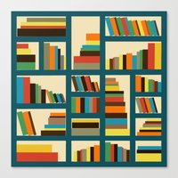 library Canvas Prints featuring library by vitamin