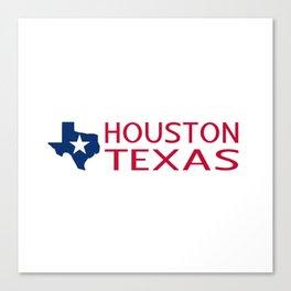 Texas: Houston (State Shape & Star) Canvas Print
