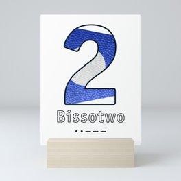 Bissotwo - Navy Code Mini Art Print