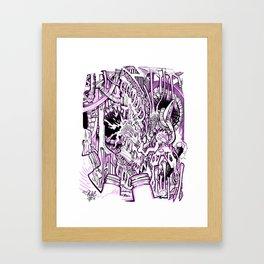 PurpTubes Framed Art Print