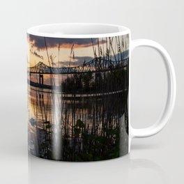 Sun sets on the bridge Coffee Mug