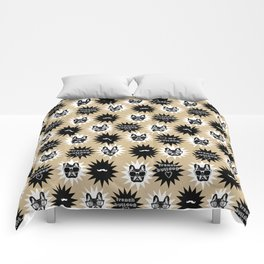 Hipster French Bulldog Comforters