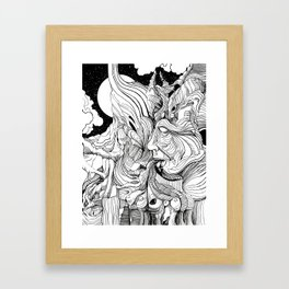 Throwing up my Negativity Framed Art Print