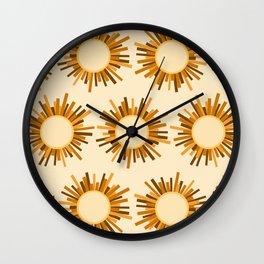 Art Deco Starburst Wall Clock