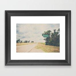 Texas state line ... Framed Art Print