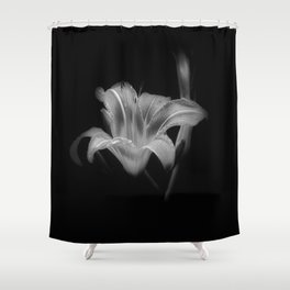 Lily BW Shower Curtain