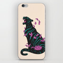 Black tiger iPhone Skin