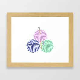 Crochet Framed Art Print