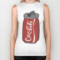 coke Biker Tanks featuring COKE 4EVR by Josh LaFayette