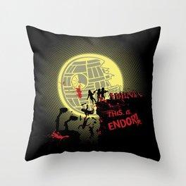 300 Ewoks Throw Pillow