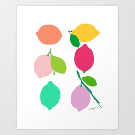 Lemon Art Print