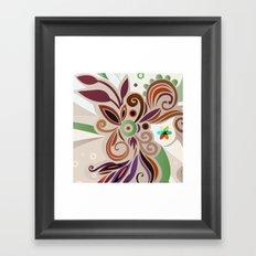 Floral curves Framed Art Print
